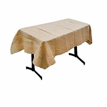 faux burlap tablecloth rectangle wedding