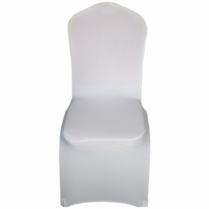 back boss 1-banquet Customize color spandex chair cover with bowknot printing