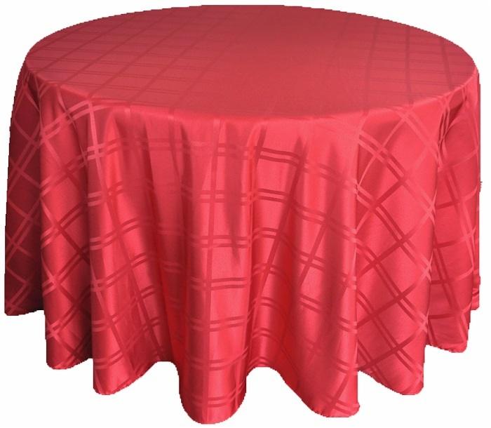 Plain Jacquard Poly Round Tablecloth