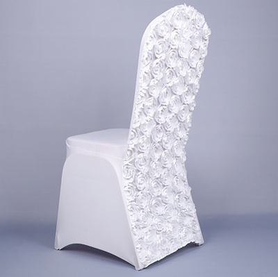 rosette spandex chair cover for wedding
