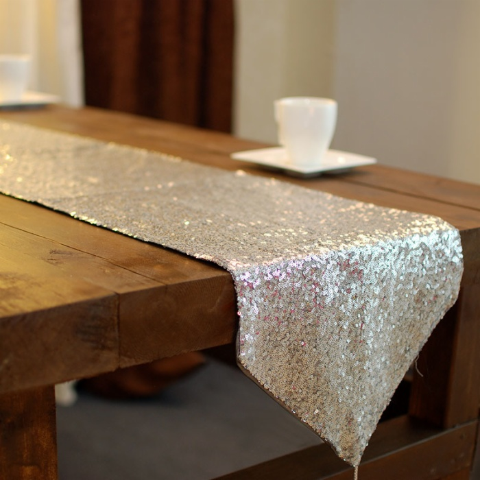 cheap high quality sequin wedding party table runner