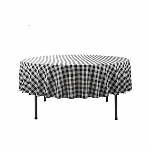 100% polyester checkered table cloth