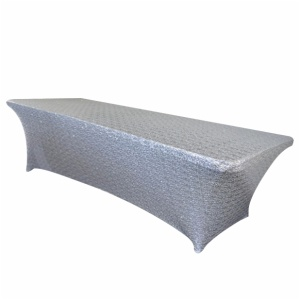 Rectangular Sequin Long Bar Spandex fitted Tablecloth lycra Table cloth