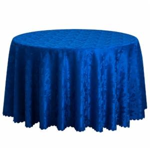 Round Linen Jacquard Weave Tablecloths