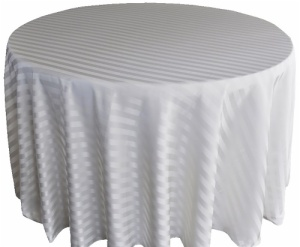 Fancy Polyester Jacquard Strip 90 Round Tablecloth