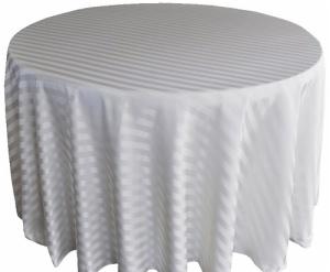 Fancy 120u0027u0027R Polyester Jacquard Strip 90 Round Tablecloth