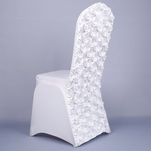 rosette spandex chair covers for wedding