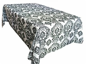 Customize Rectangle Damask Flocking Tablecloth