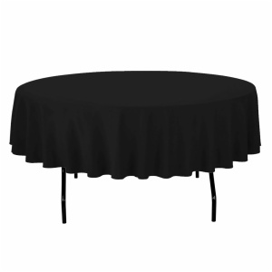 Round Spun Polyester Tablecloth
