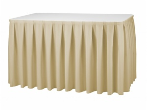 box pleats table skirting
