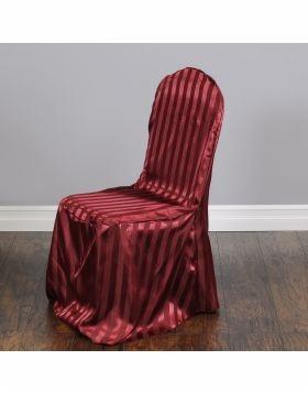 Striped Satin Banquet Chair Cover