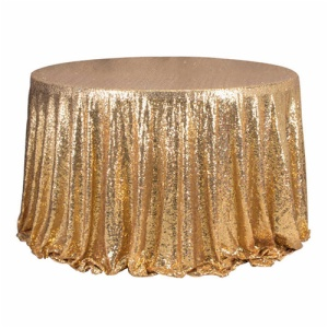 Cheap fancy gold sequin tablecloth table cloths for weddings