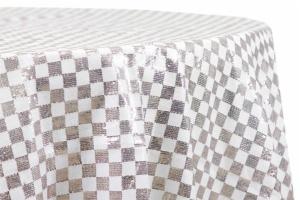 Checkered Customize Glitz Sequin Round Tablecloth