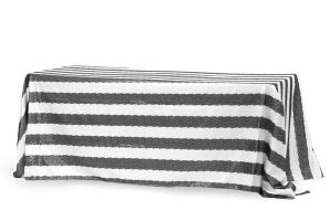 Rectangular Customize Stripe Glitz Sequin Tablecloth