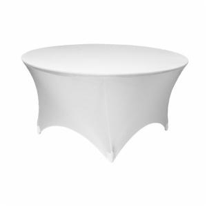 White spandex round table cloth factory