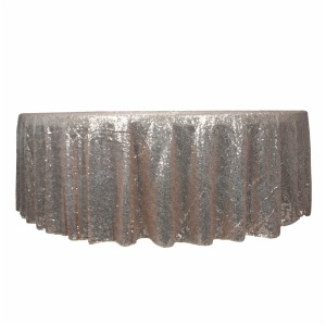 Luxury 100% polyester gold sequin tablecloth for wedding banquet