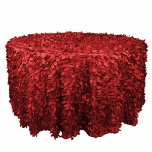 Wholesale cheap round petal taffeta table cloth made in China