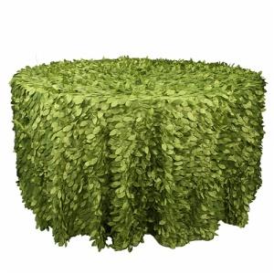 Wholesale cheap round petal taffeta table cloth made in China