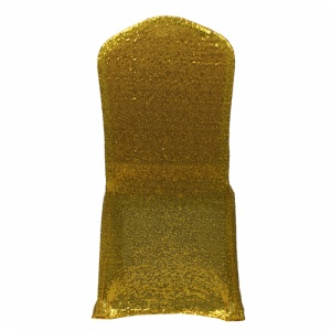 Fancy lycra banquet gold chair cover for wedding, chair covers in china spandex