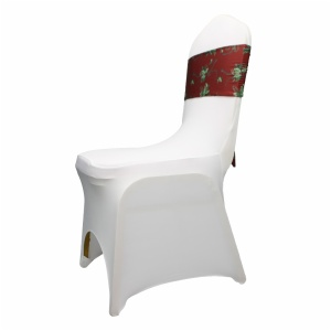 wholesale professional red chair sashes for wedding decoration chair bow