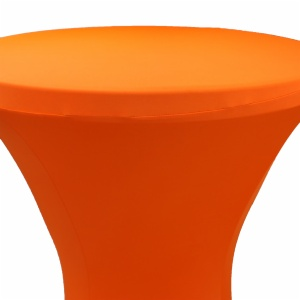 Wholesale orange cocktail spandex table cover china round table cloth outdoor