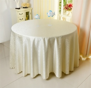 Round Jacquard Tablecloth