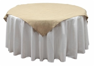 Jute Burlap Table Overlay
