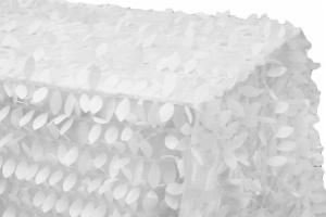 90x156 Rectangular Leaf Petal Taffeta Tablecloth