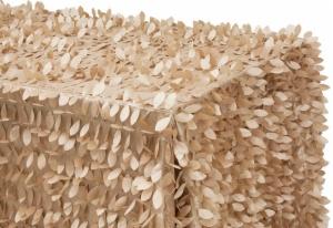 Customized Rectangular Leaf Petal Taffeta Tablecloth