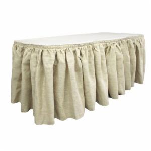 Cheap Ruffled Burlap Pleated Table Skirt