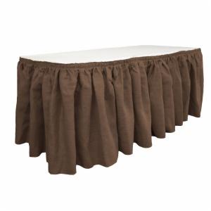ruffled burlap table skirt