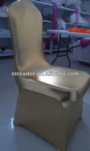 wholesale lycra gold metallic stretch spandex lame chair covers party