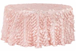 Customize Petal Circle Taffeta Round Tablecloth Cheap