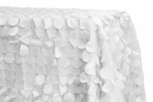 Rectangular Petal Circle Taffeta Tablecloth for sale