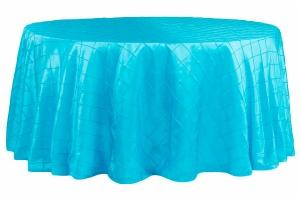 Customize Round Pintuck Taffeta Tablecloths wholesale