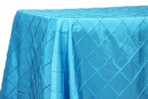 Rectangular Pintuck Taffeta Tablelcloths