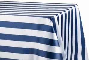 Customize Stripe Satin Rectangular Tablecloth