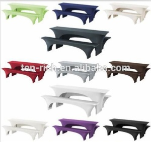 rectangle custom fitted spandex stretch lycra beer bench table cloth covers with logo