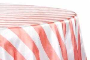 Stripe 120 Satin Customize Round Tablecloth