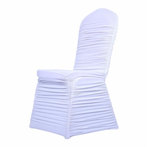 Ruched spandex chair covers wedding decoration