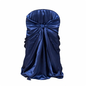 satin universal chair cover, wrap chair cover, satin self tie pillow case chair cover