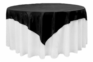 72 Square Satin Table Overlay