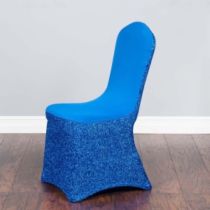 Glitter Spandex Stretch Chair Covers For Sale