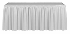 Shirred Pleat Table Skirting