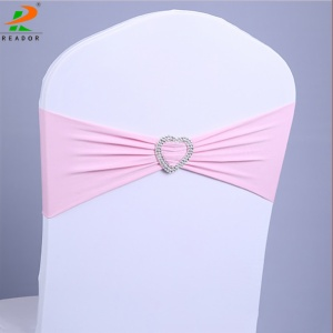 Wholesale spandex chair sashes chair cover with band for wedding events banquet hall