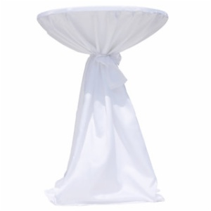 Cheap Satin Customize Cocktail Table Covers