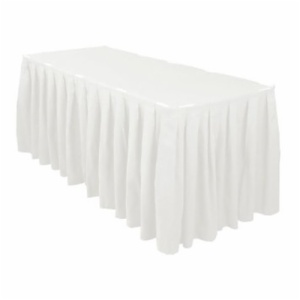 cheap polyester table skirts