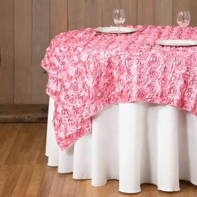 rosette table overlay