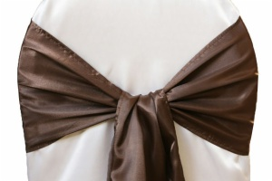 Wide Satin Chair Sashes