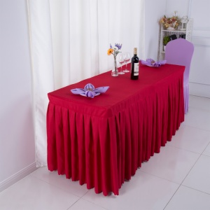 Table Skirt with Box Pleats